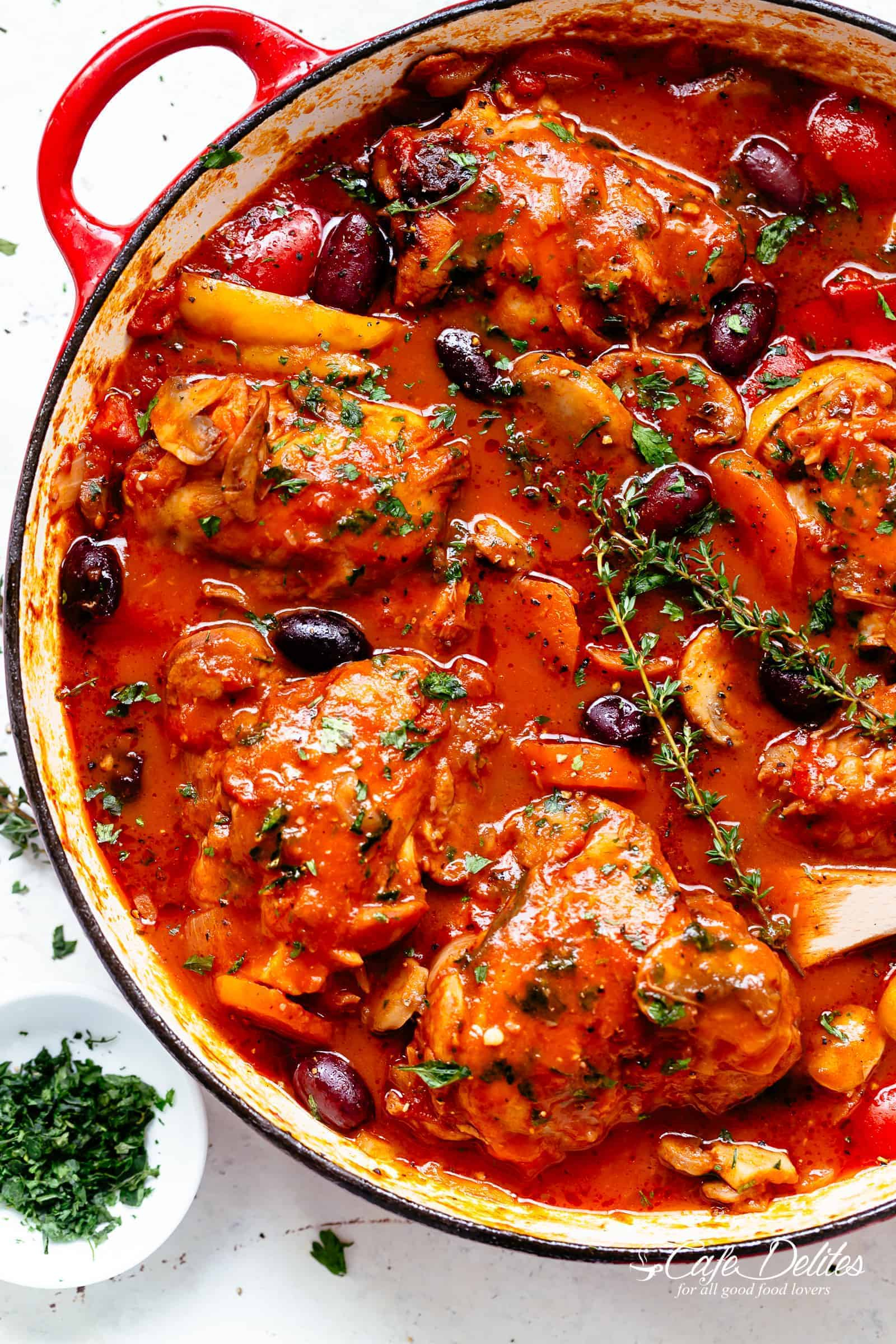Chicken Cacciatore - Cafe Delites Italian Chicken Recipes