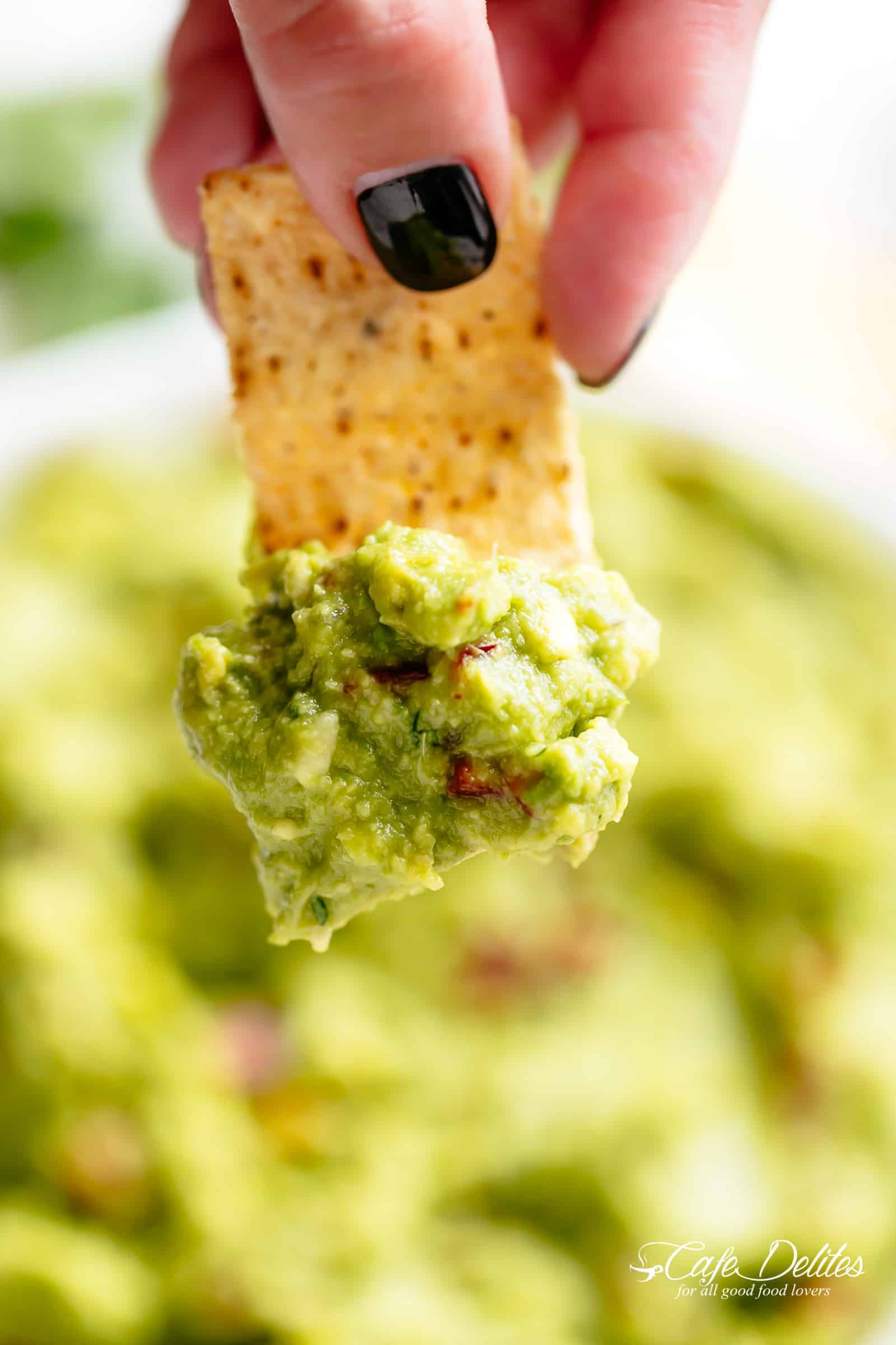 Guacamole with chips! | cafedelites.com