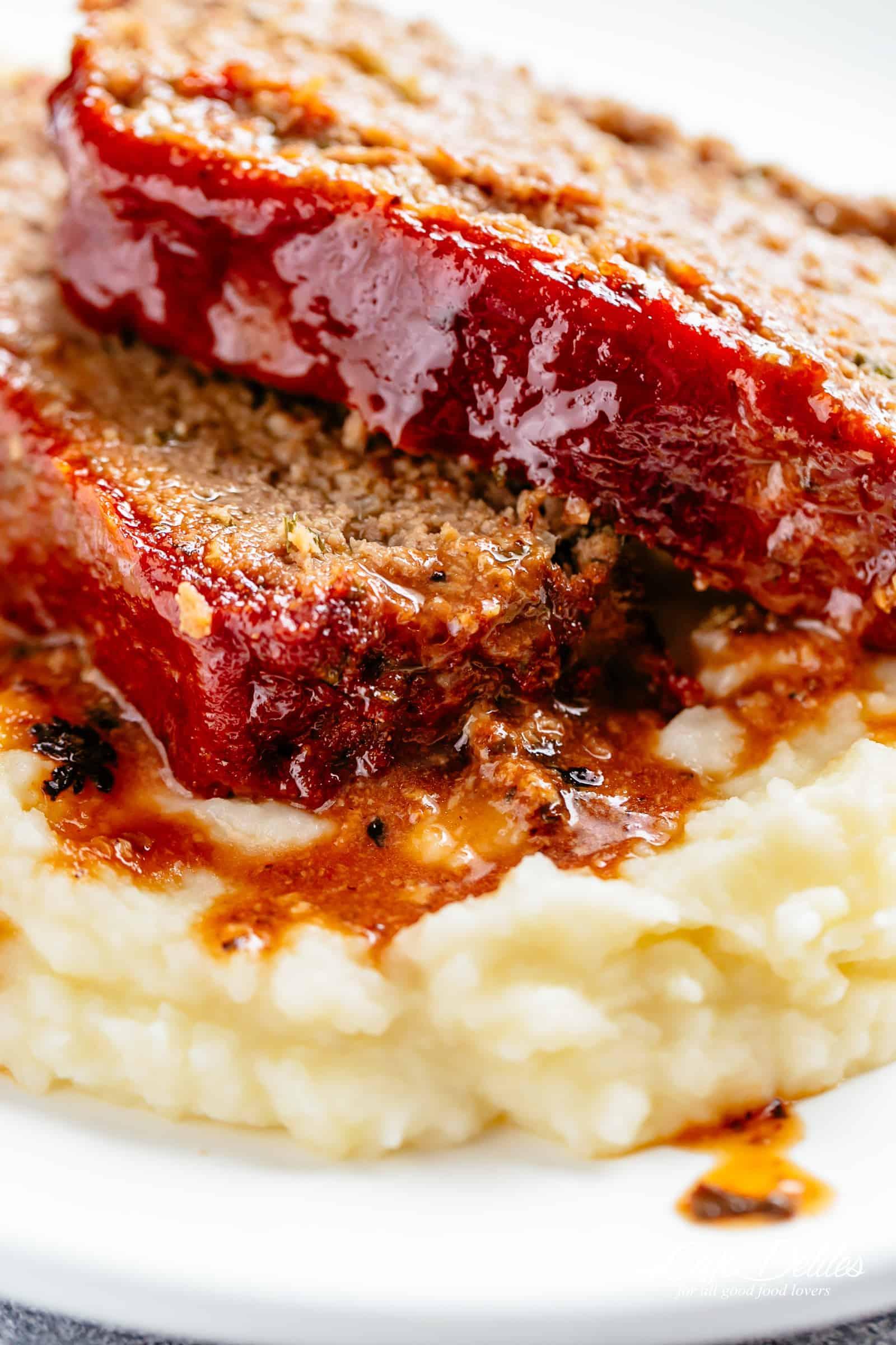 Meatloaf with Mashed Potatoes | cafedelites.com