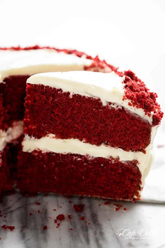 Best Red Velvet Cake - Cafe Delites