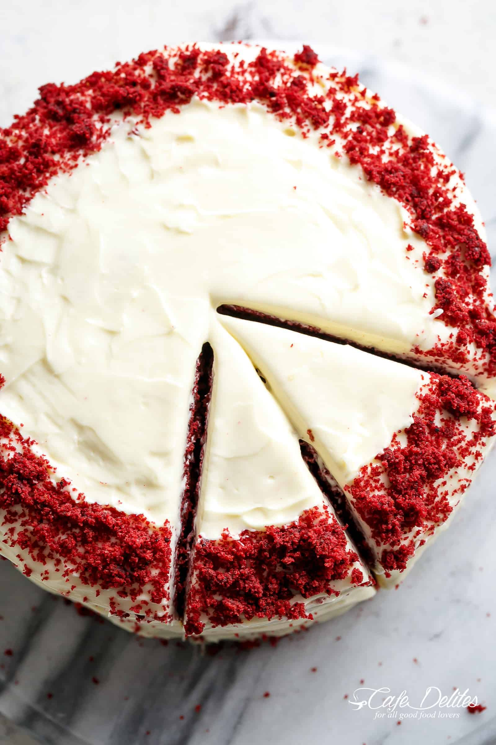 Red Velvet Cake is super easy to make with a few tips and tricks! | cafedelites.com