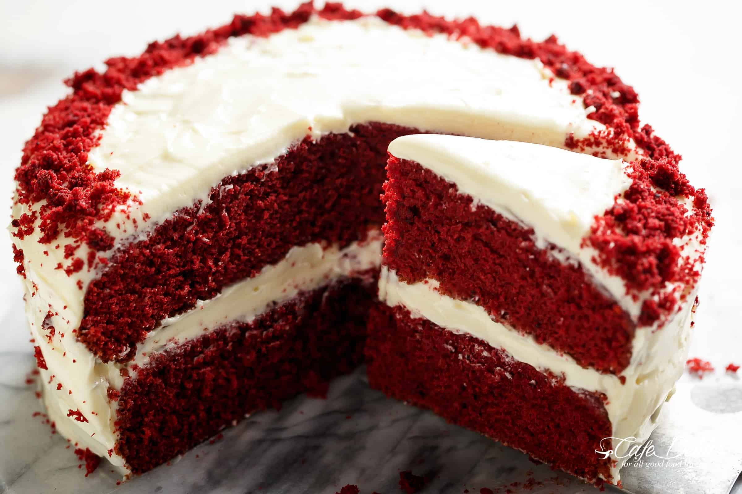 Best Red Velvet Cake - Cafe Delites