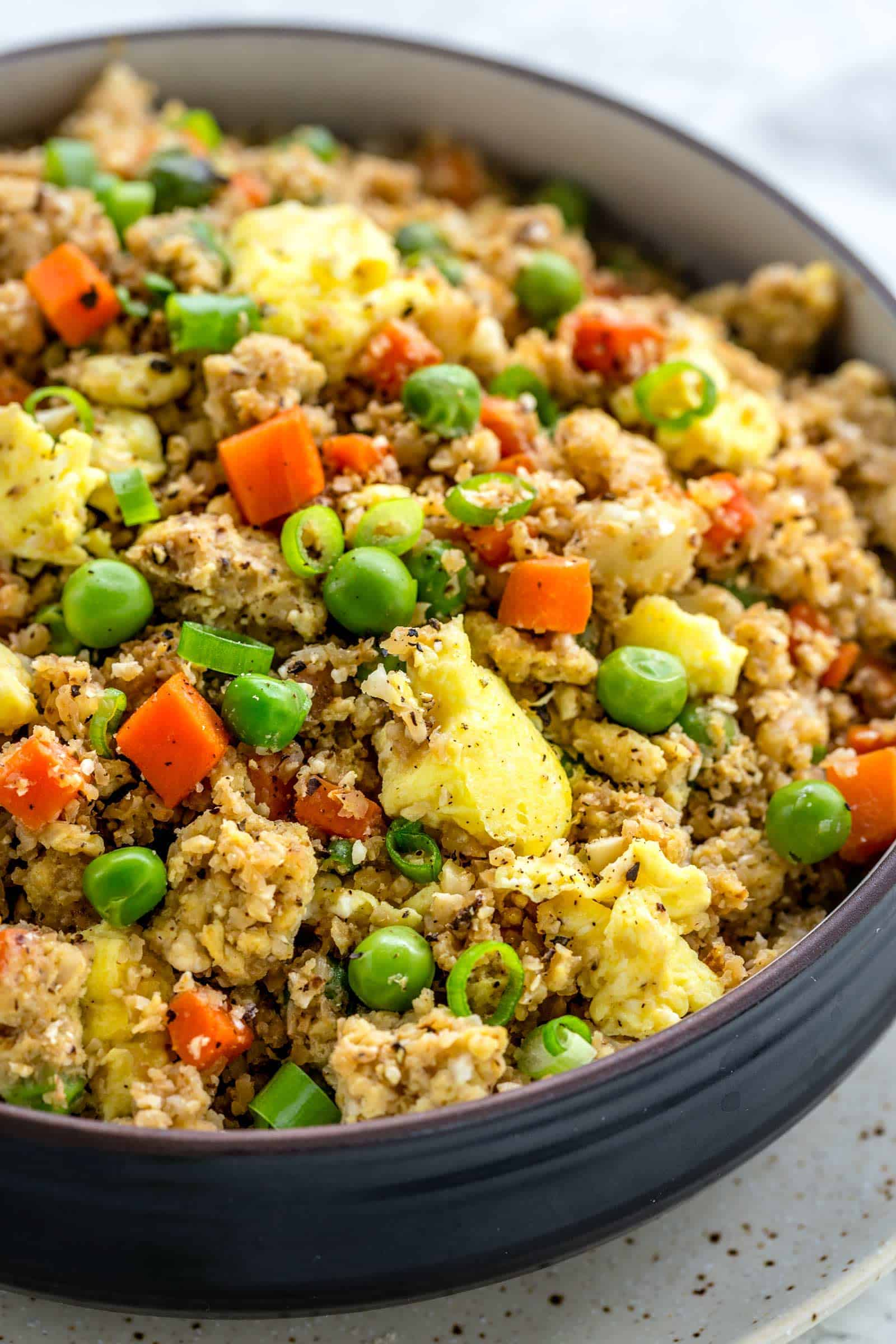 Cauliflower Fried Rice Low Carb Cafe Delites