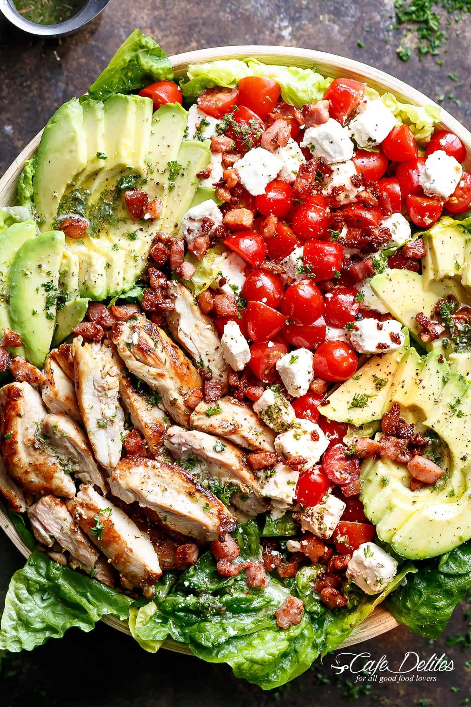 Lemon Herb Avocado Chicken Salad