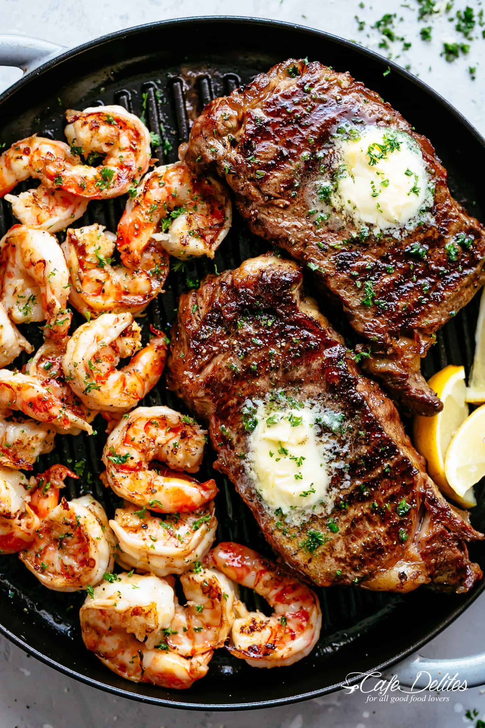 Garlic Butter Grilled Steak Shrimp Cafe Delites