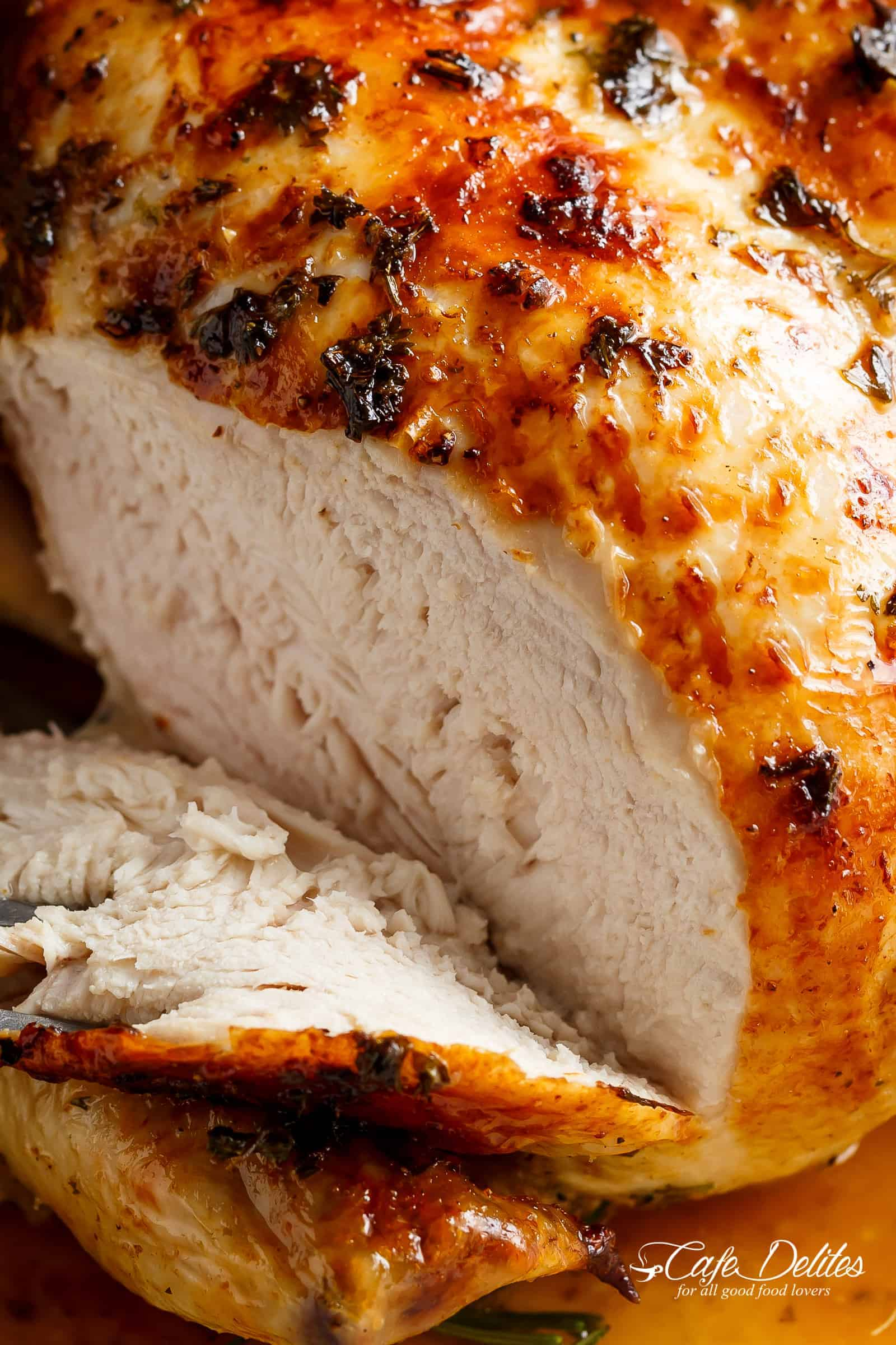 Juicy Roast Chicken Breast | cafedelites.com