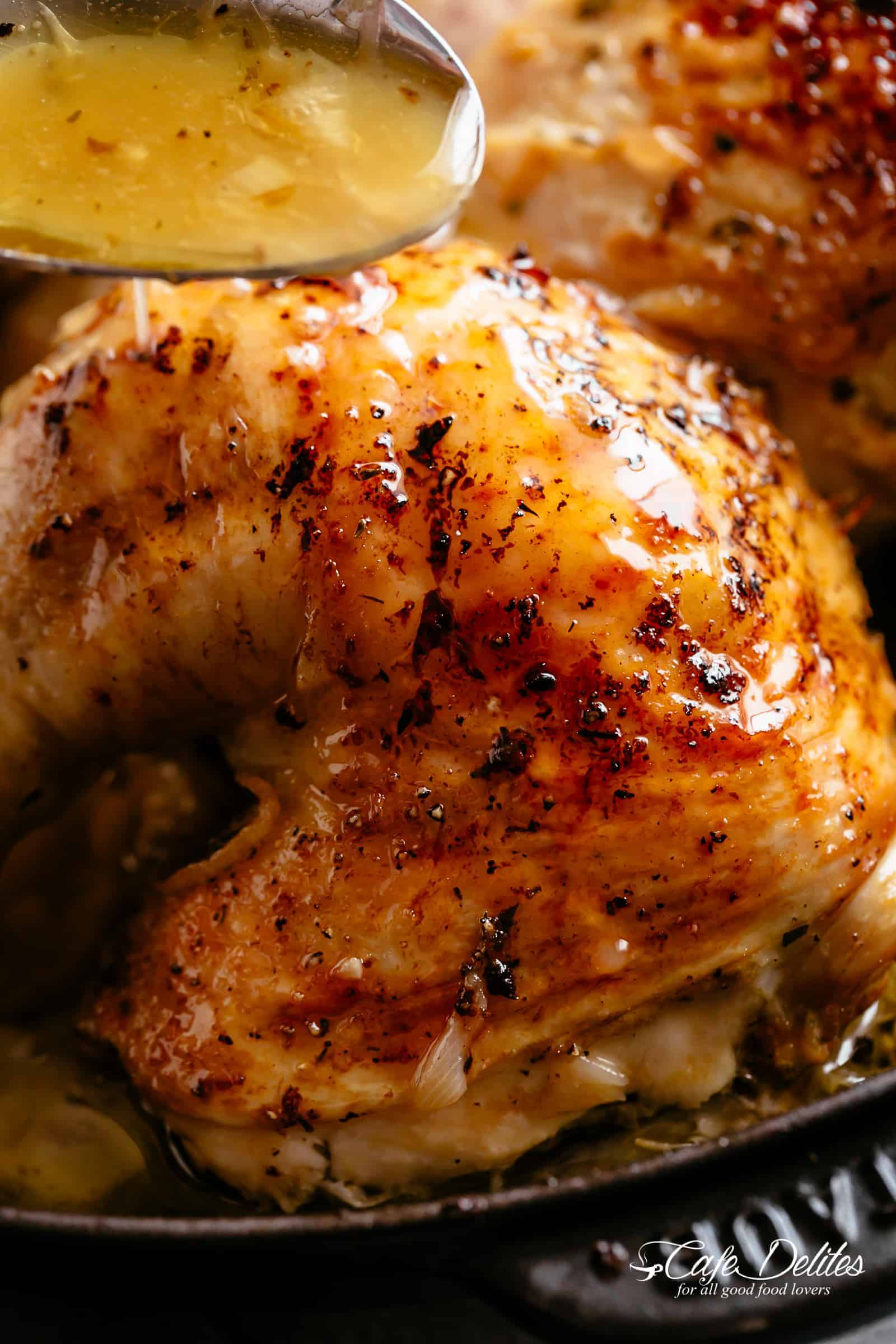Roast Chicken with so much flavour and easy to find ingredients! | cafedelites.com