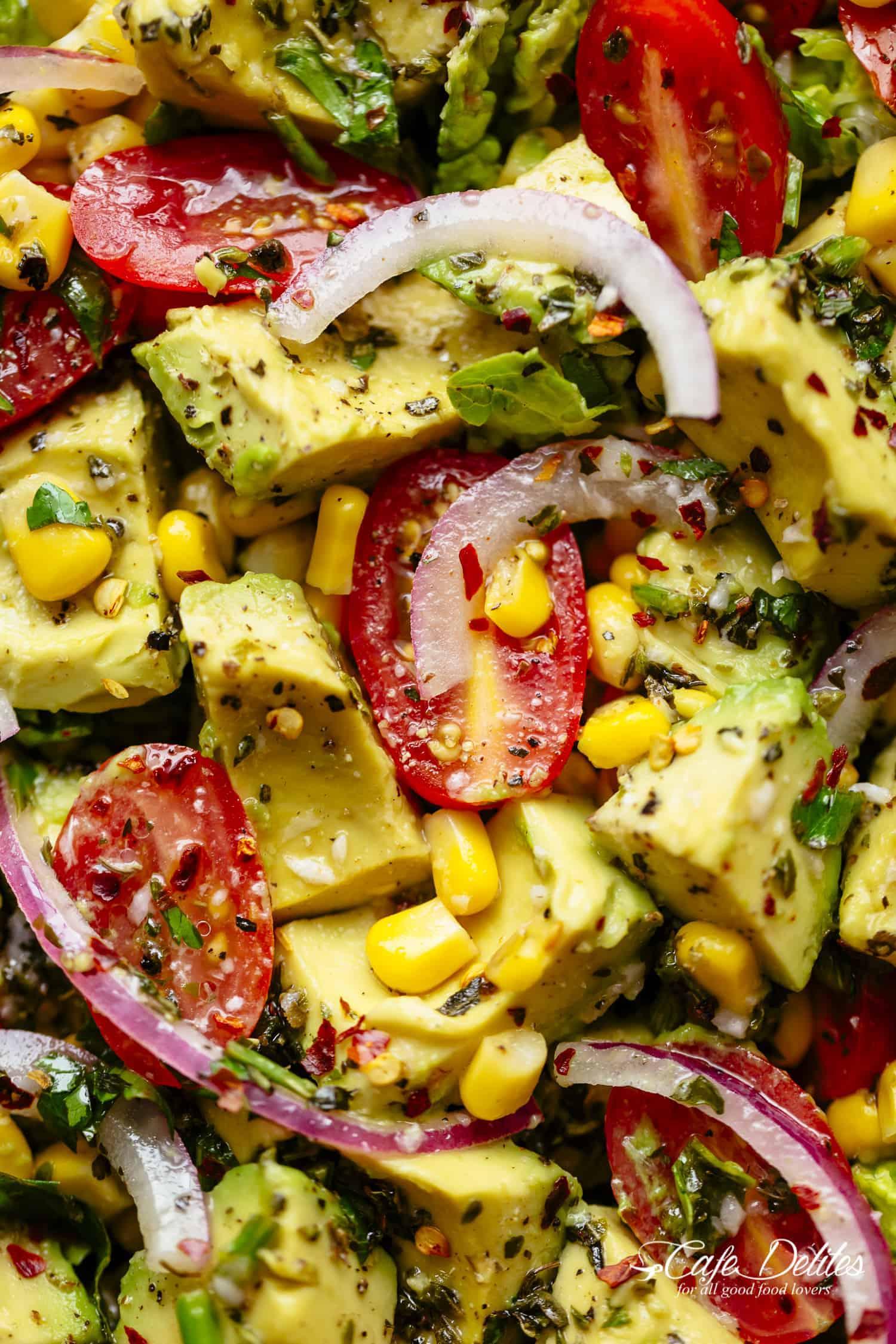 Avocado Corn Salad | cafedelites.com