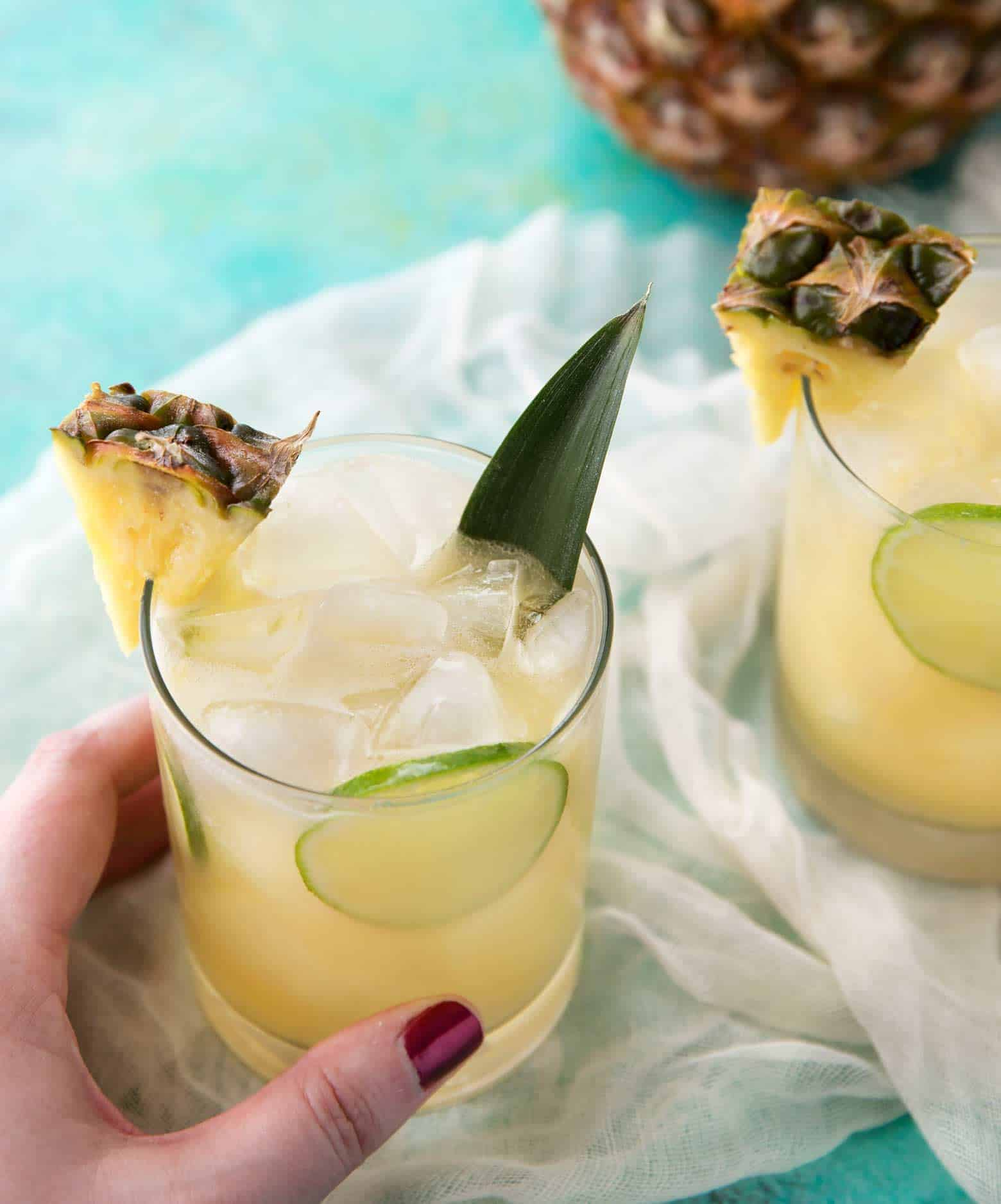 Tropical Pineapple Rum Punch! | cafedelites.com