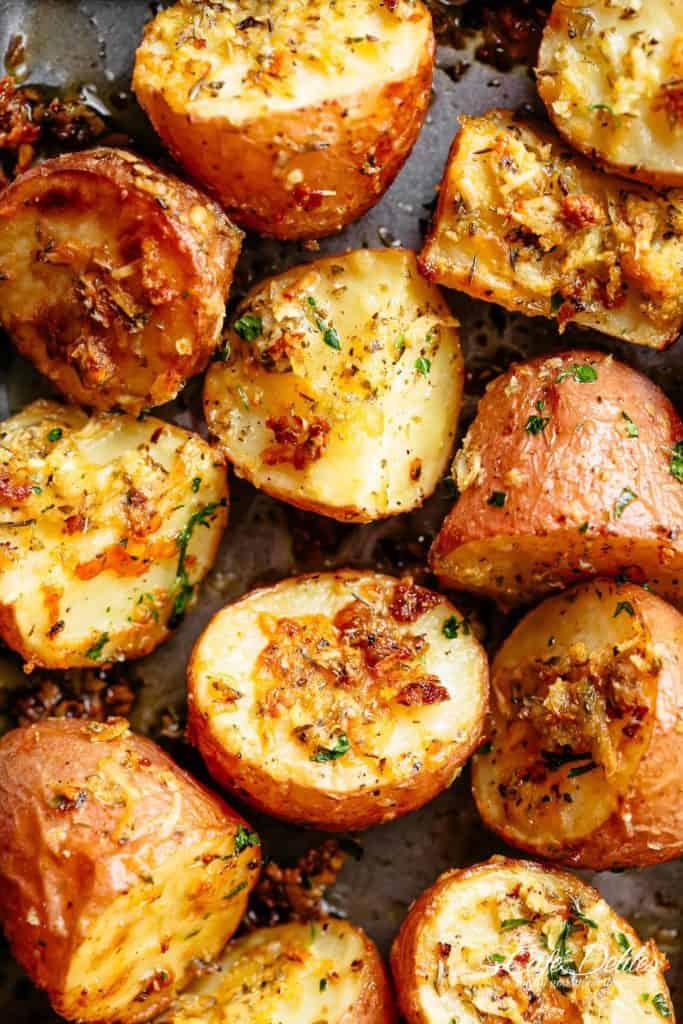 Browned Butter Parmesan Roasted Potatoes Cafe Delites