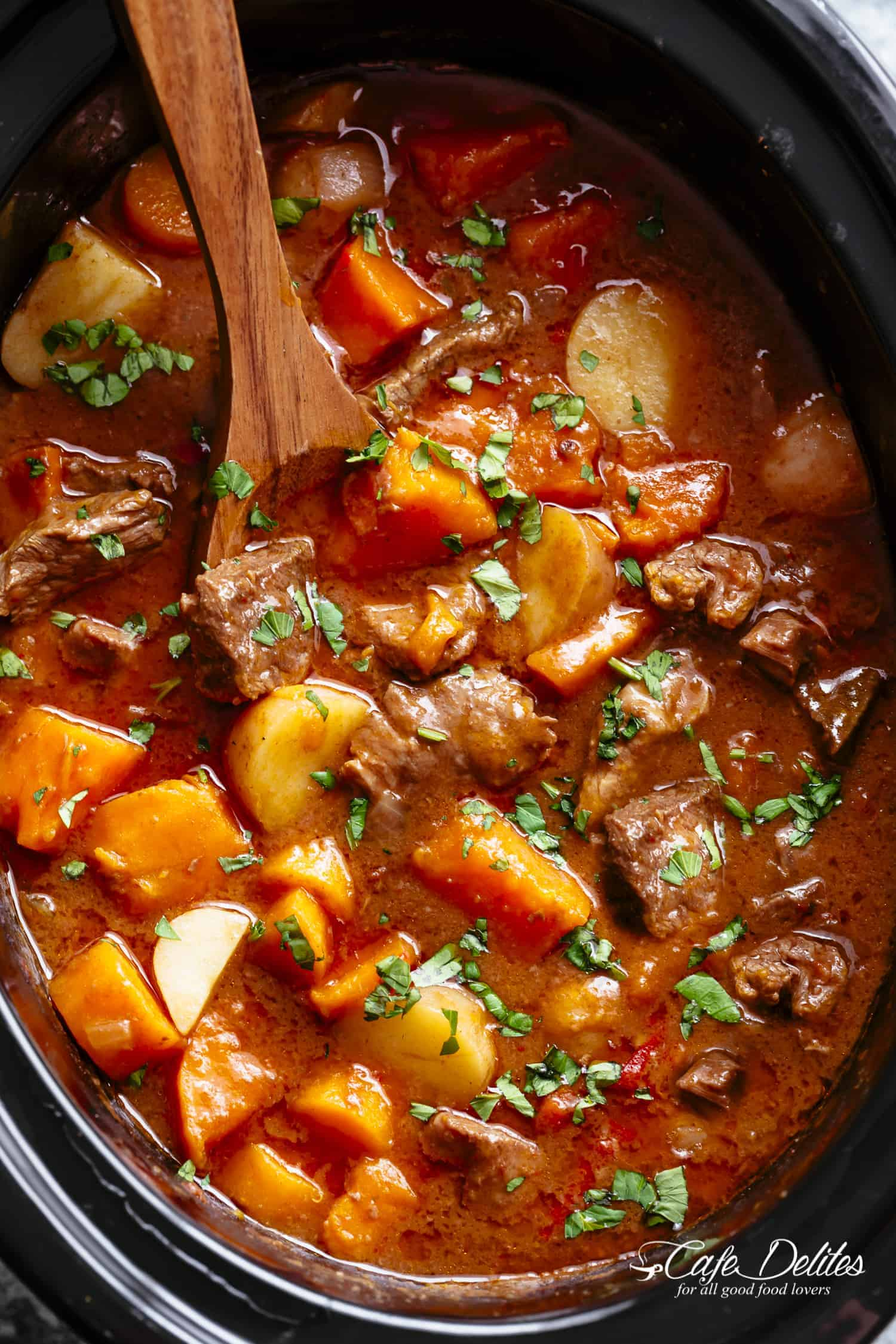 Slow Cooker Beef Stew Cafe Delites