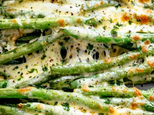 Cheesy Roasted Green Beans Cafe Delites