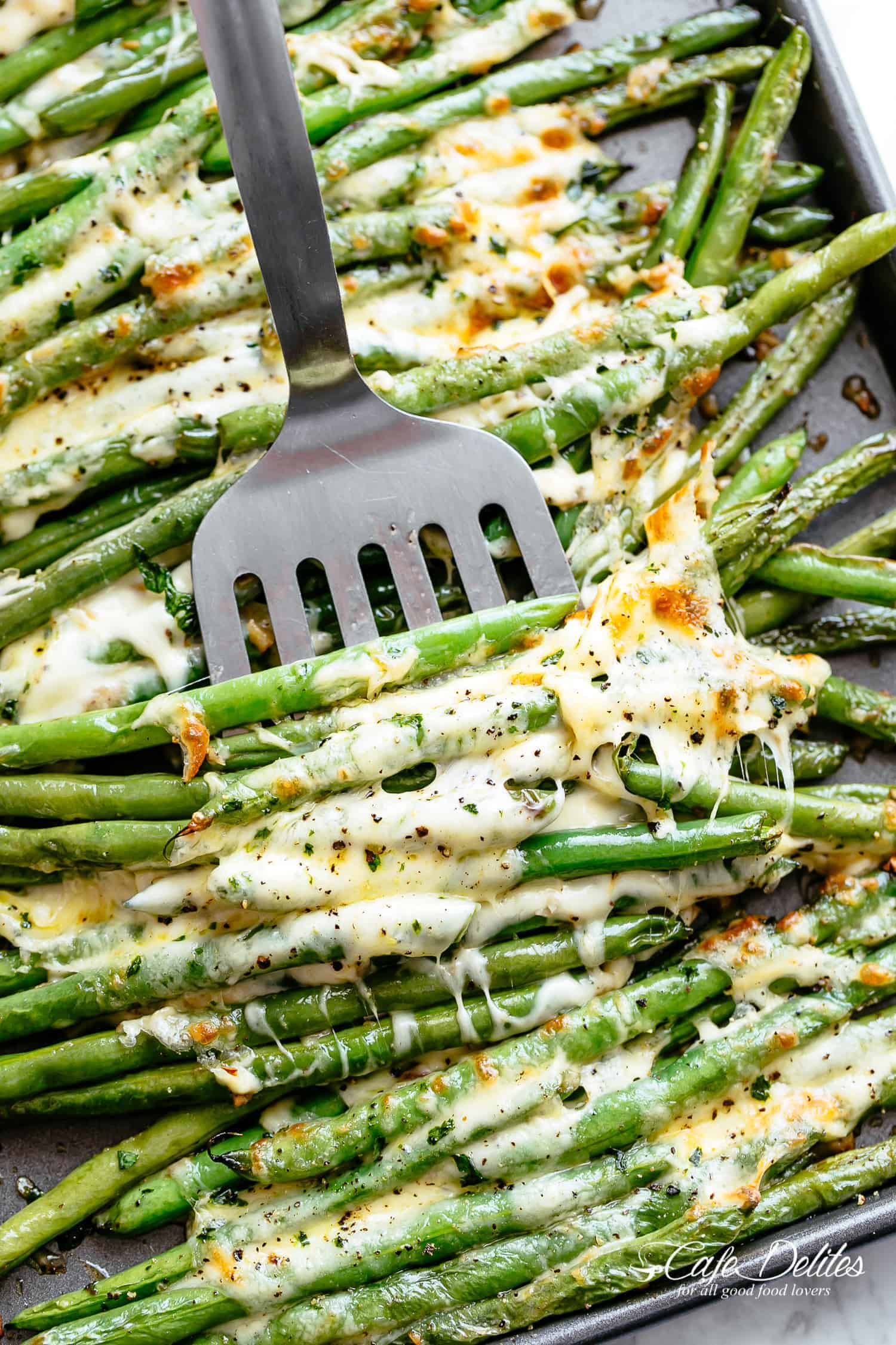 Roasted green beans side dish