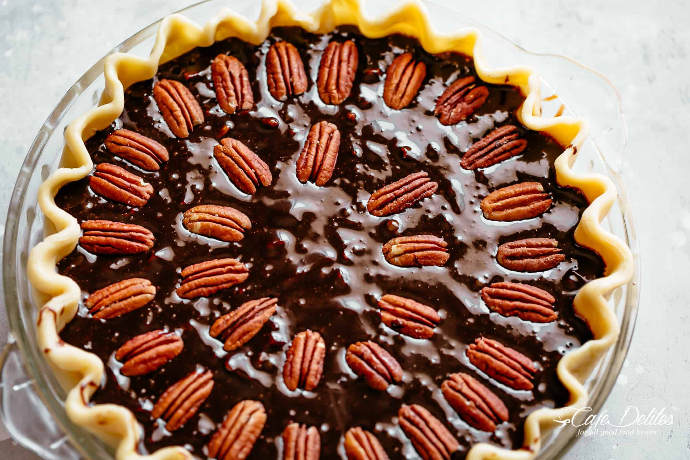 Chocolate pecan pie for Thanksgiving
