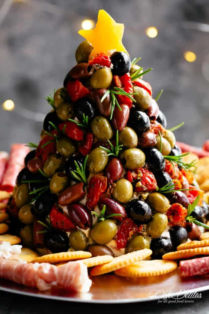 Antipasto Cheese Ball Christmas Tree Cafe Delites