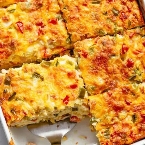 Breakfast Casserole With Hash Browns Bacon Or Sausage