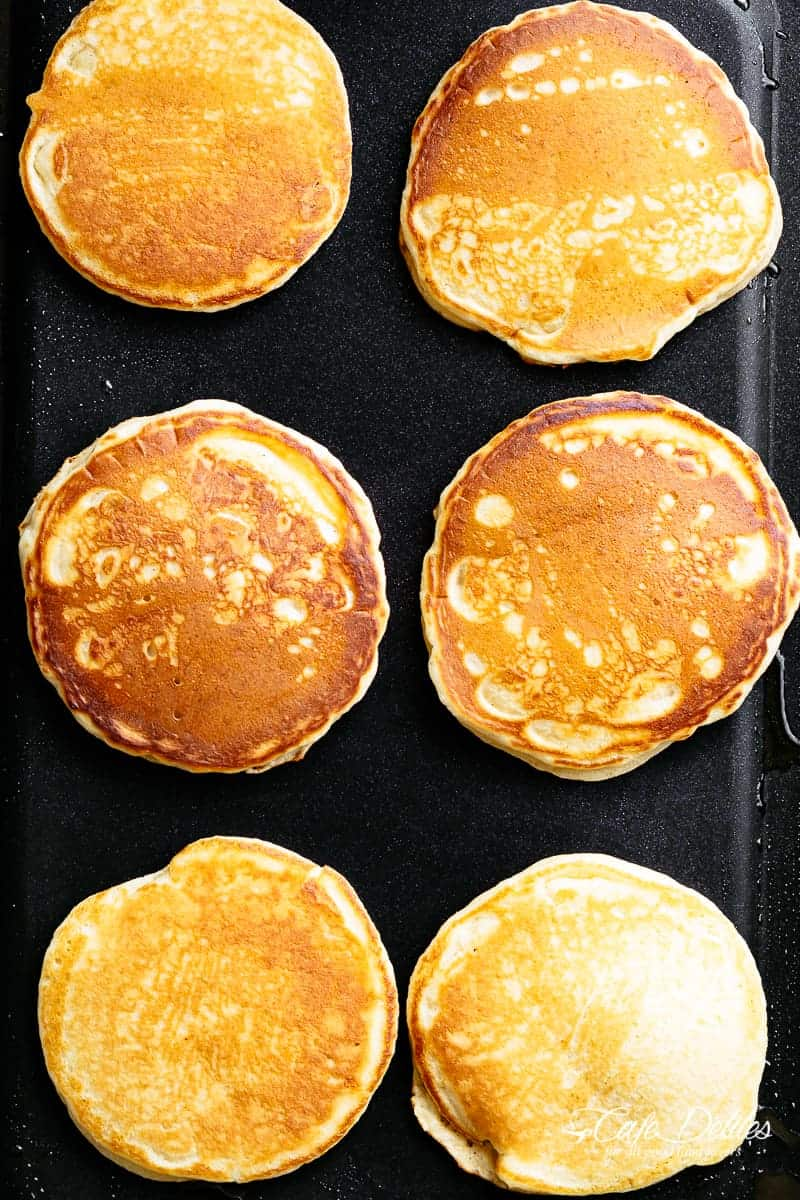 Cooking Buttermilk Pancakes | cafedelites.com