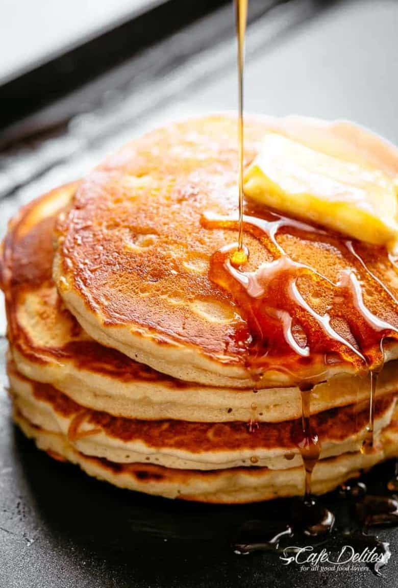 Buttermilk Pancakes | cafedelites.com