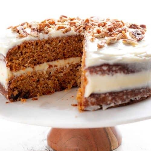 Carrot Cake RECIPE | cafedelites.com