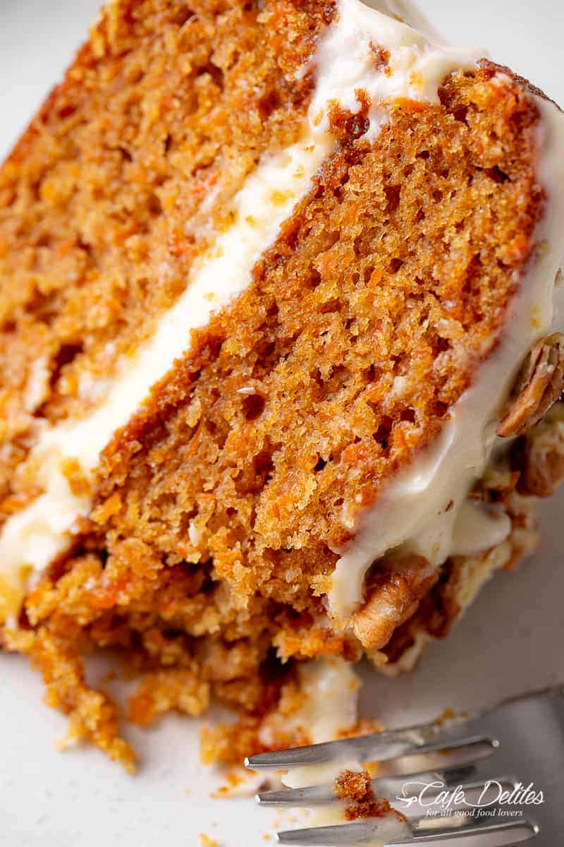 Carrot Cake With Cream Cheese Frosting Cafe Delites