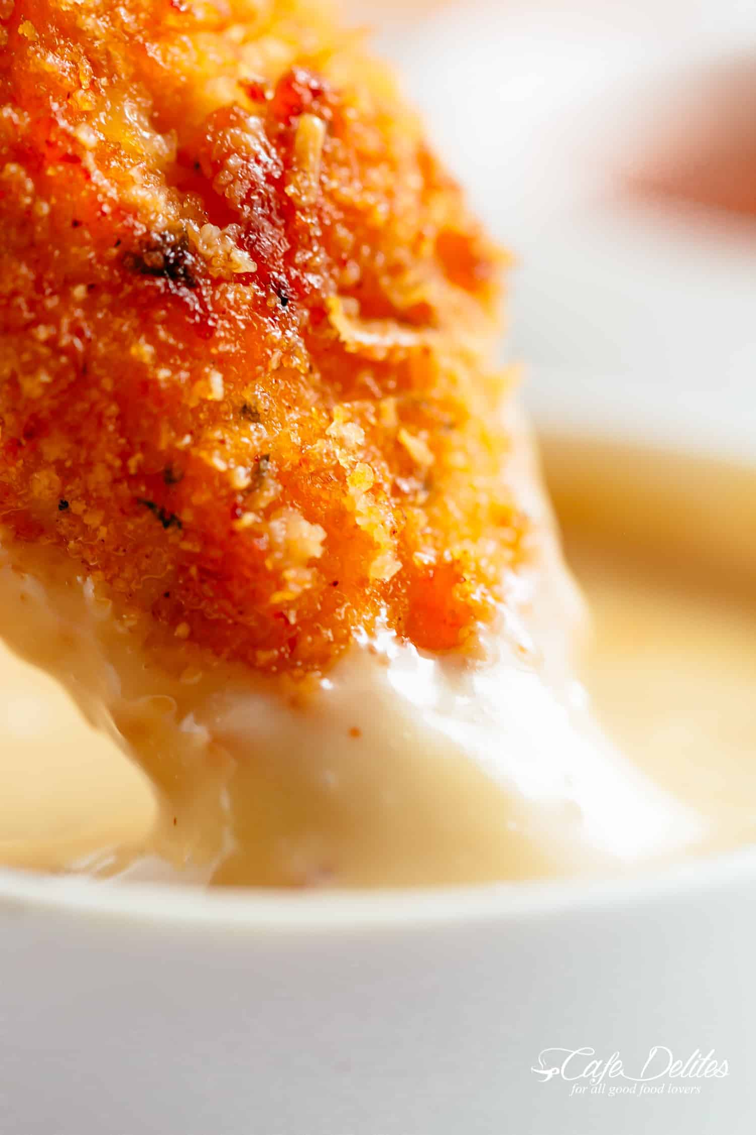 Chicken Tenders dipped in honey mustard sauce make the perfect finger food. | cafedelites.com