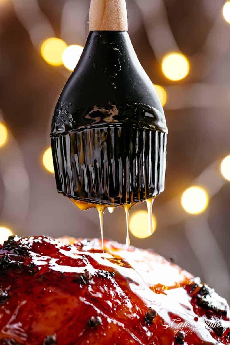 Honey Glaze for Baked Ham | cafedelites.com