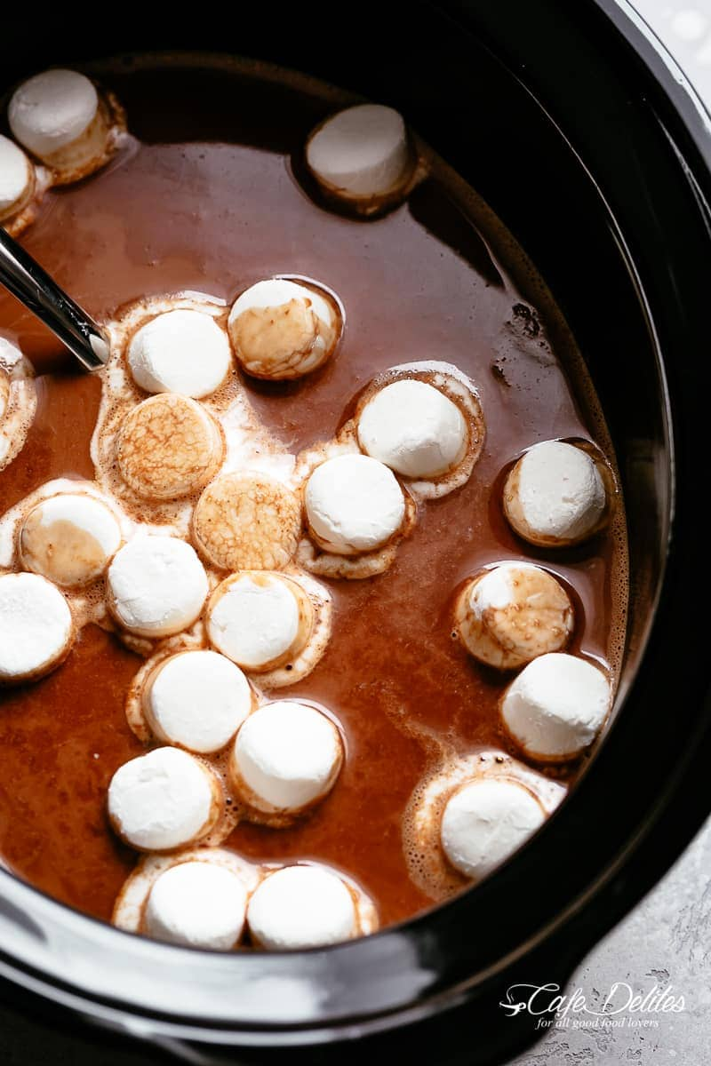 Slow Cooker Hot Chocolate Cafe Delites