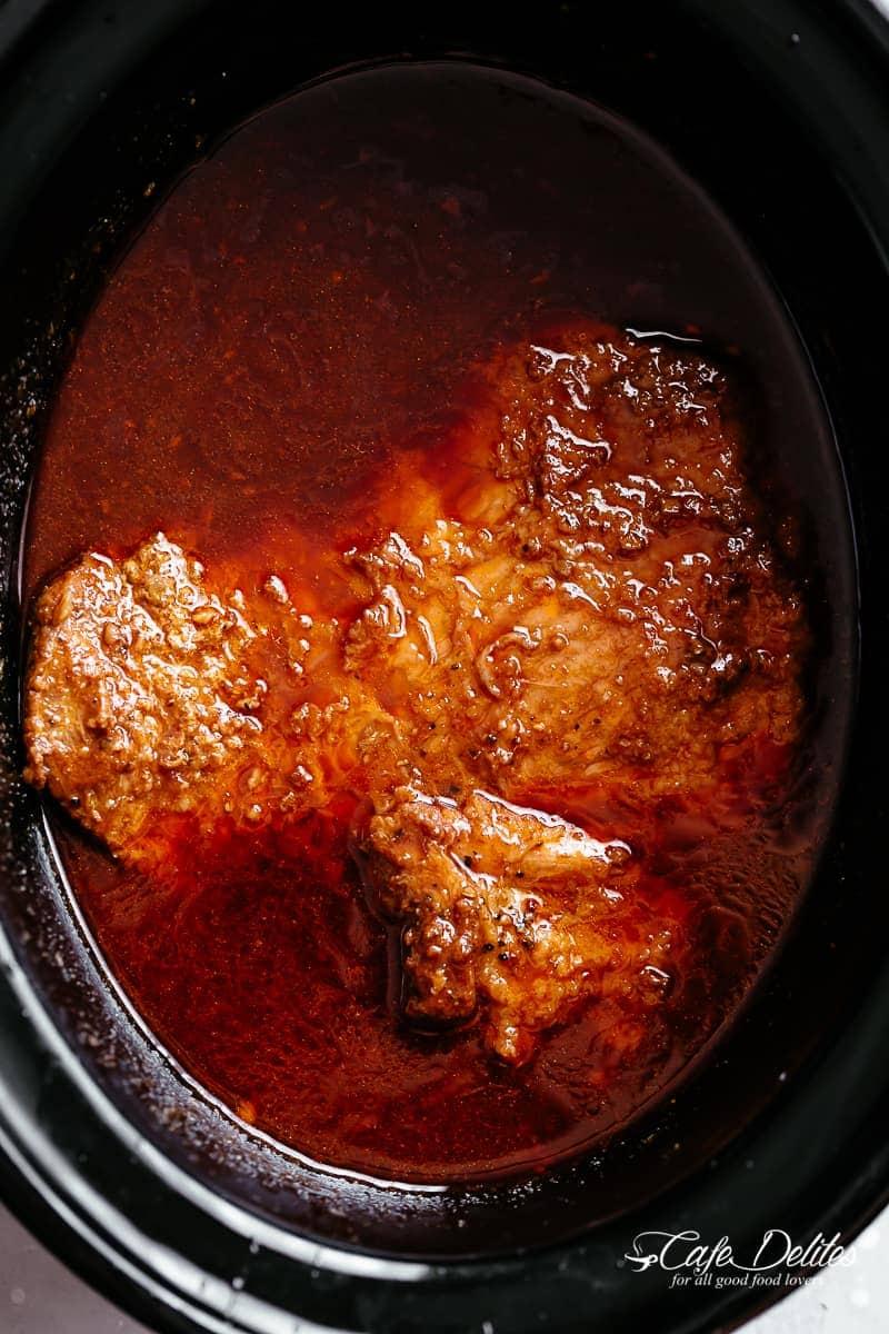 Slow cooker beef brisket | cafedelites.com