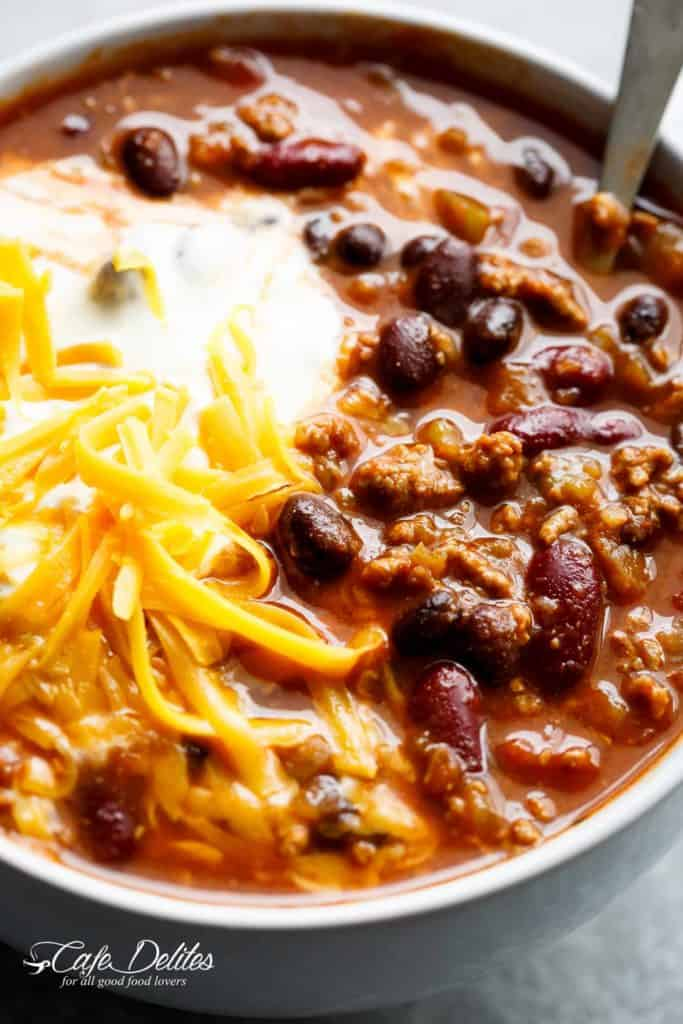 Best Beef Chili Recipe | cafedelites.com