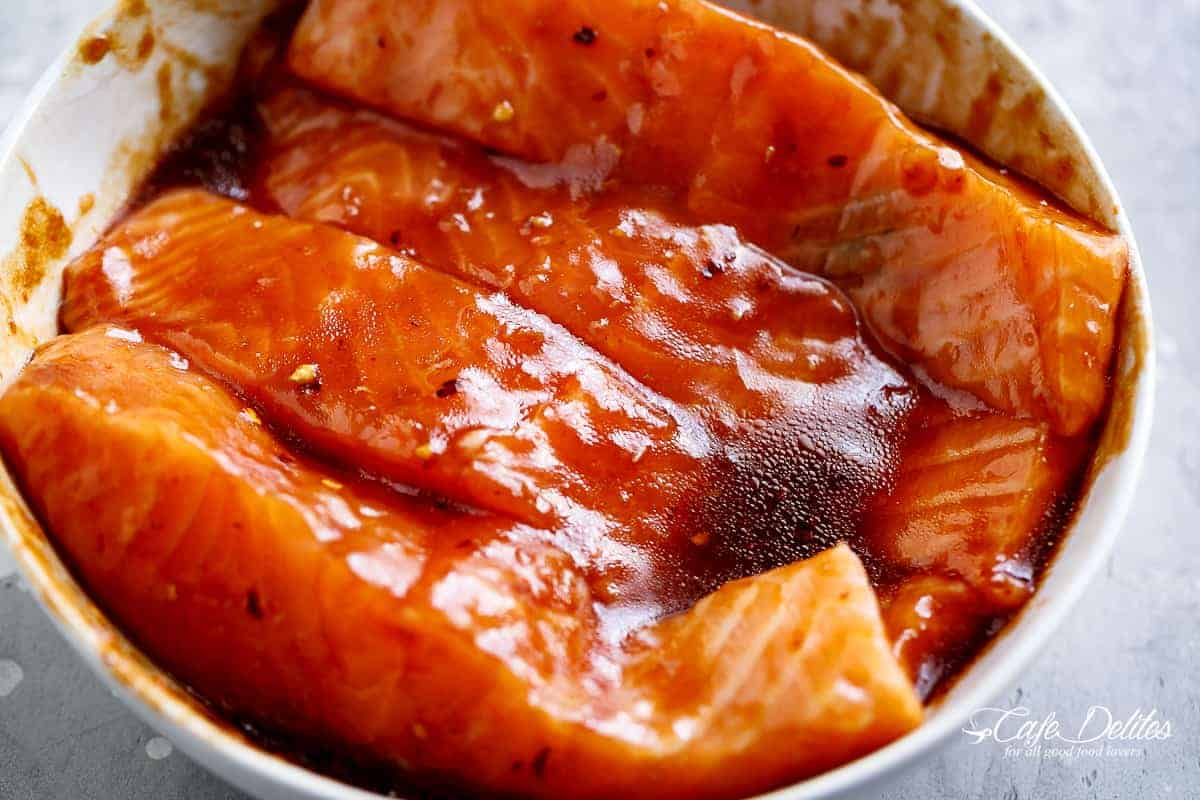 How To Make Salmon with sauce | cafedelites.com