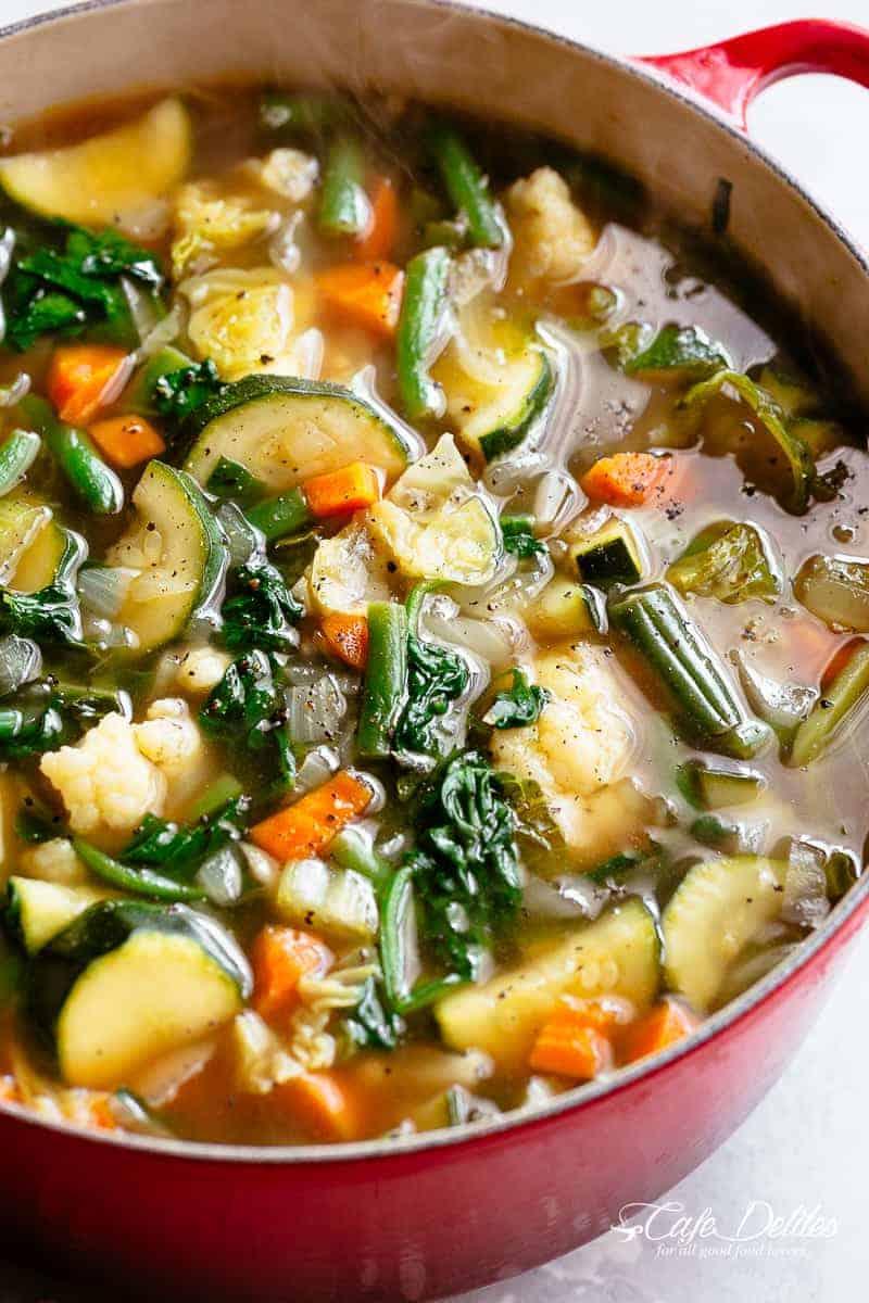 Low Carb Vegetable Soup - Cafe Delites