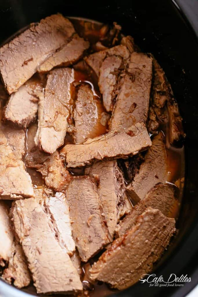 How to make beef roast for French dip sandwiches | cafedelites.com