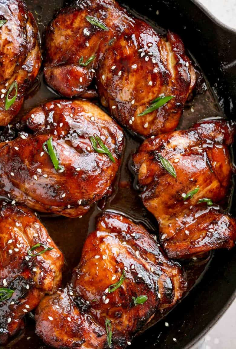 Honey Soy Baked Chicken Thighs | cafedelites.com