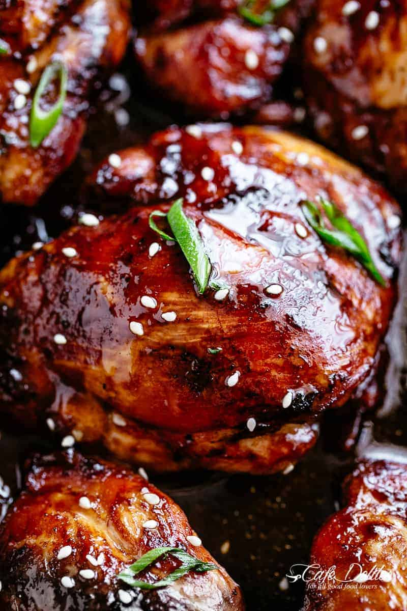 Baked chicken thighs #cafedelites #chicken #thighs
