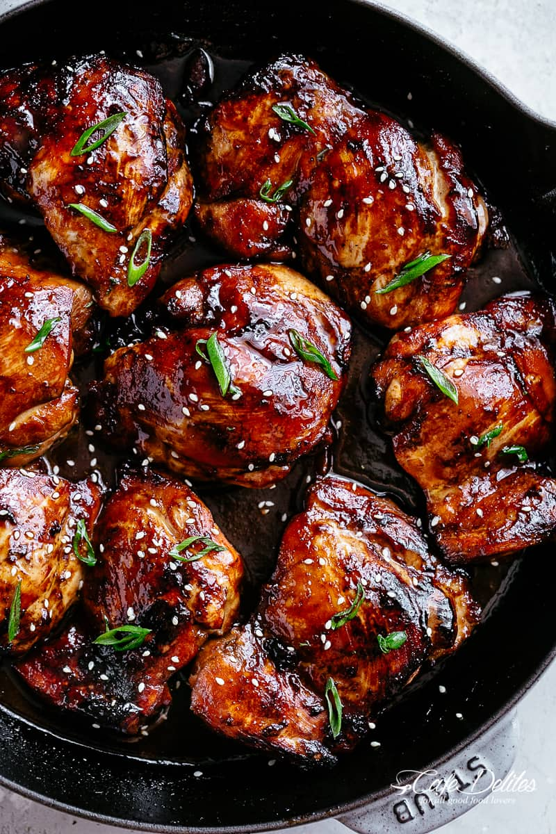 Baked Chicken Thighs are quick to throw together with only a few ingredients! | cafedelites.com
