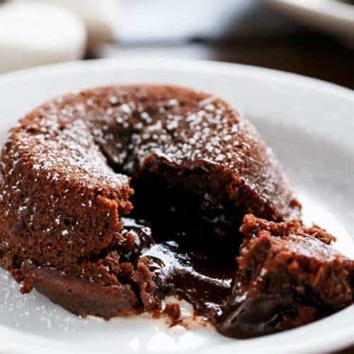 Molten Chocolate Lava Cakes | cafedelites.com