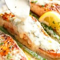 Salmon with a creamy Dijon sauce is a deliciously foolproof recipe | cafedelites.com