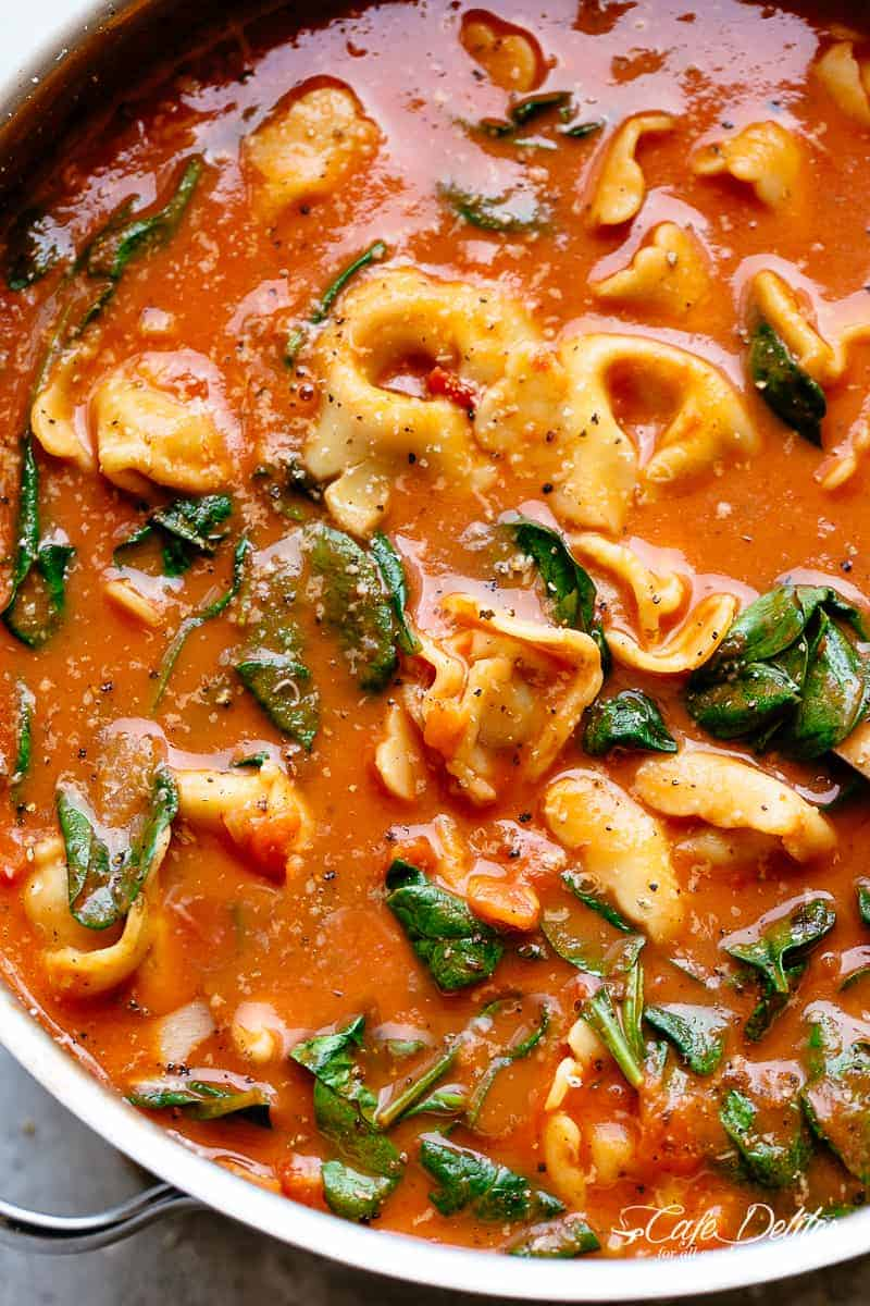 Creamy Tomato Tortellini | cafedelites.com