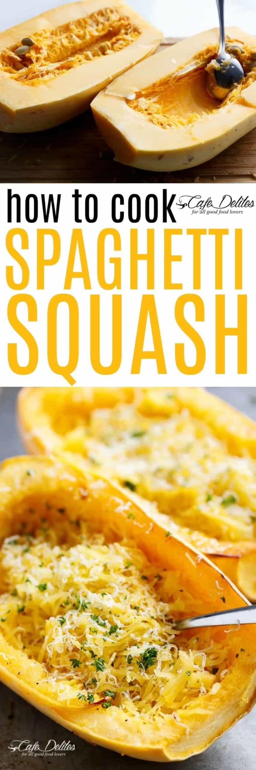 How To Cook Spaghetti Squash   https://cafedelites.com