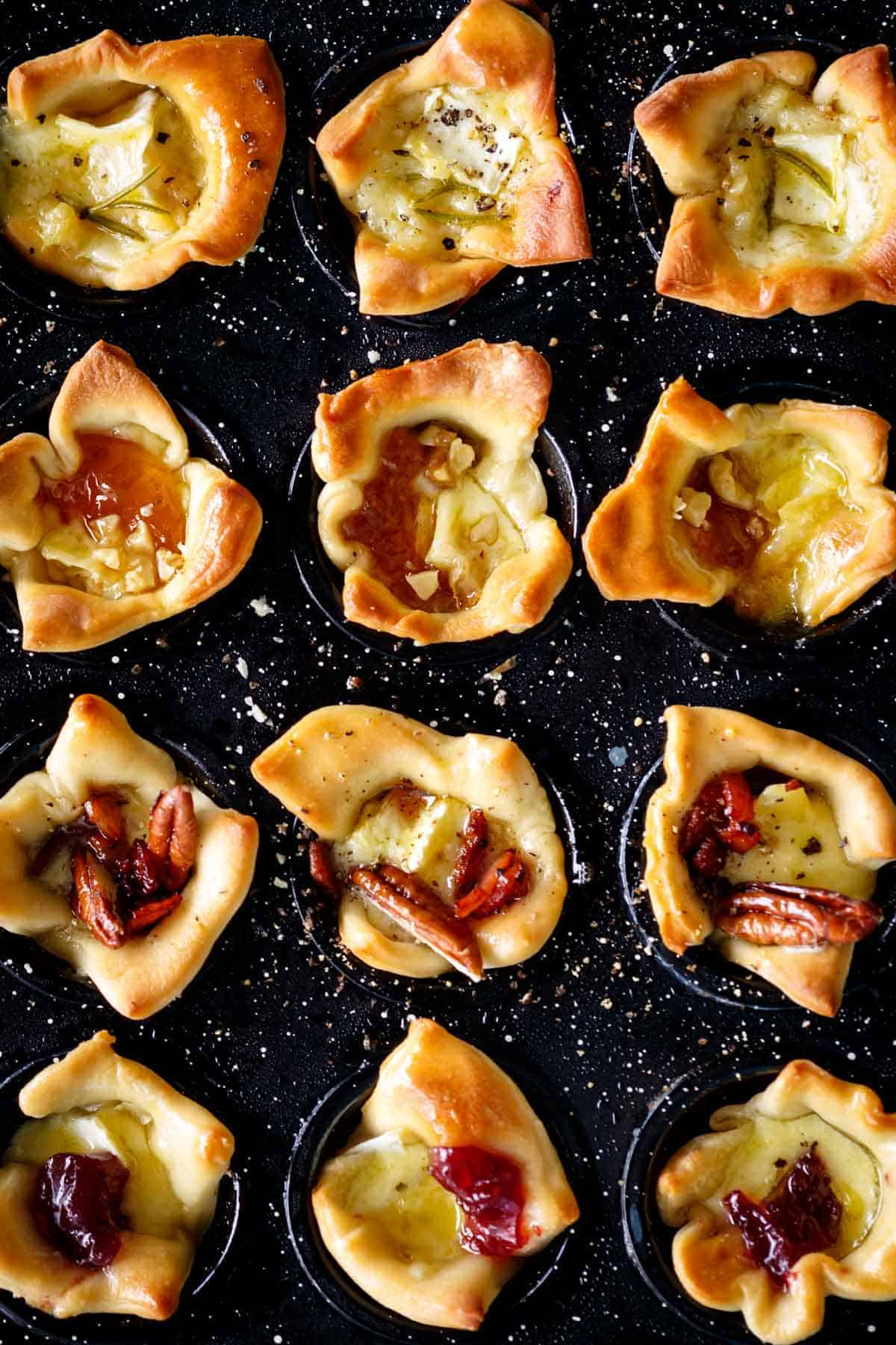 Baked Brie Bites in a mini muffin tin | cafedelites.com