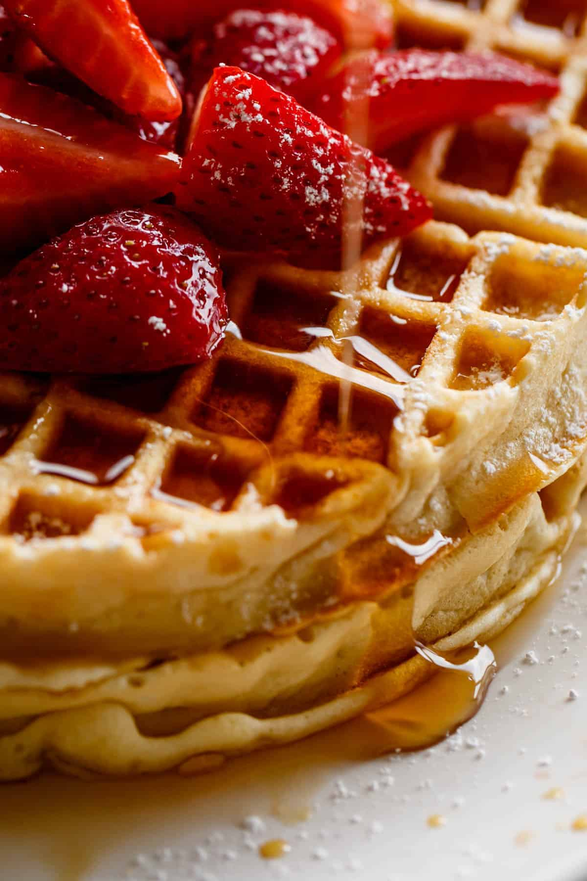 Belgian Waffles with maple syrup! | #waffles #recipe