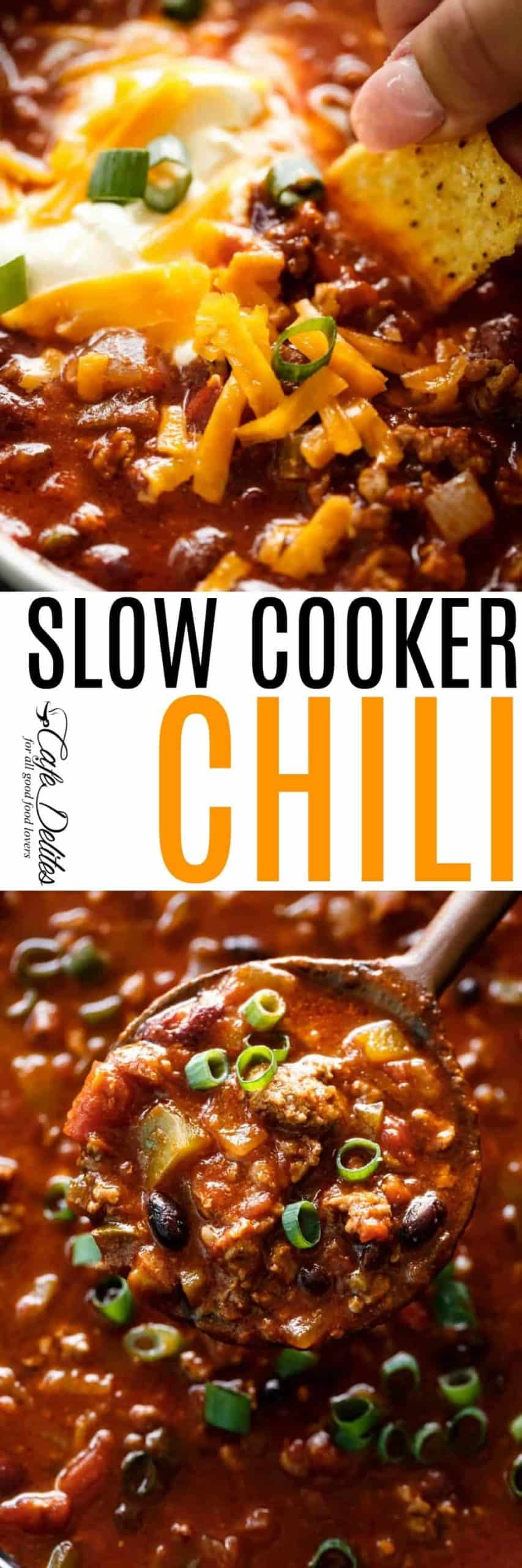 Slow Cooker Chili | cafedelites.com