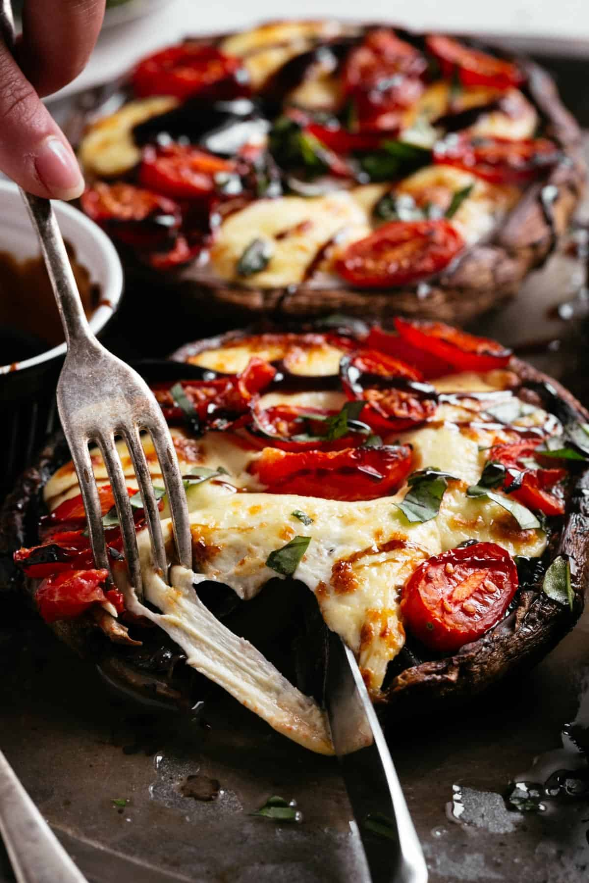 Caprese Stuffed Portobello Mushrooms