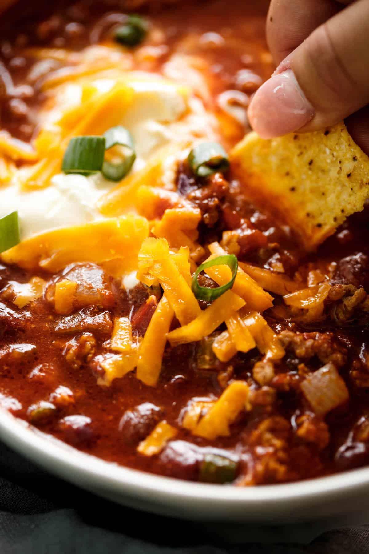 Slow Cooker Chili Cafe Delites