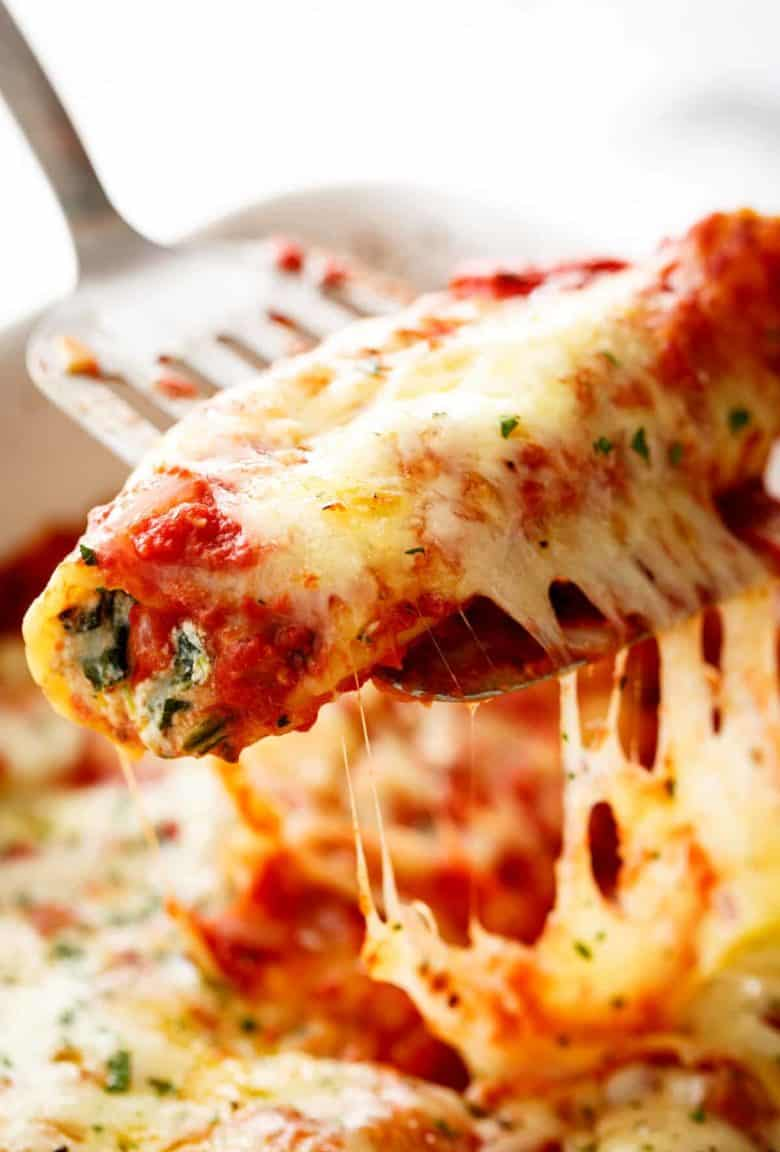 Spinach Cheese Manicotti | cafedelites.com