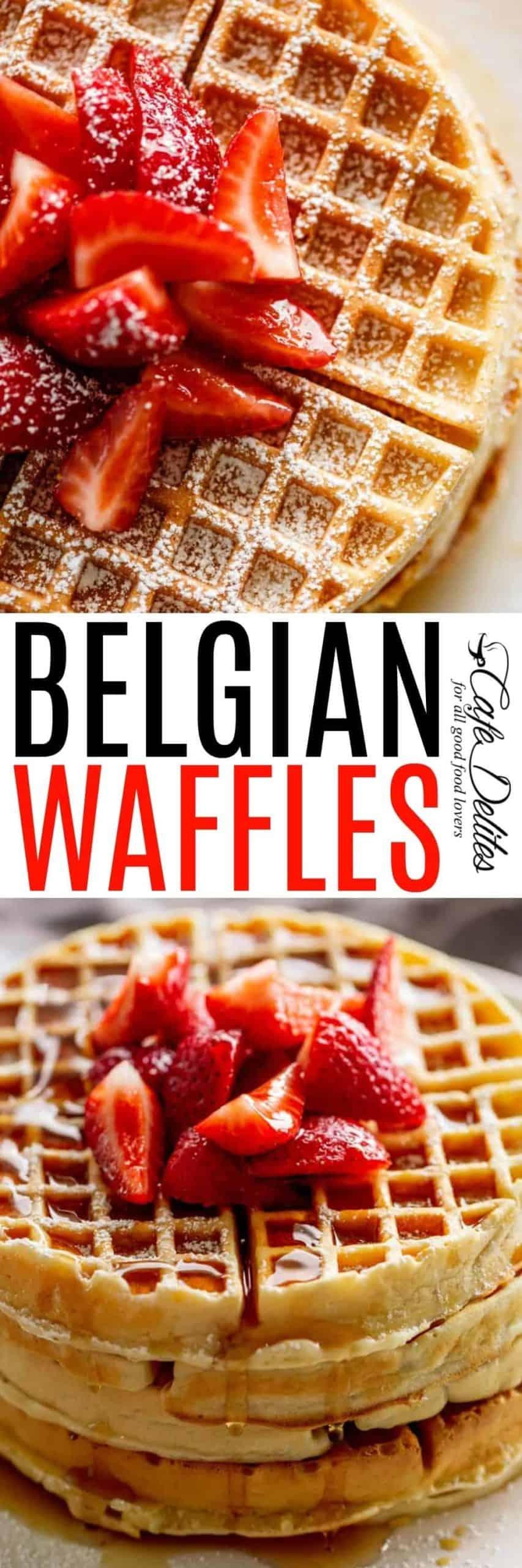 Belgium Waffles | cafedelites.com