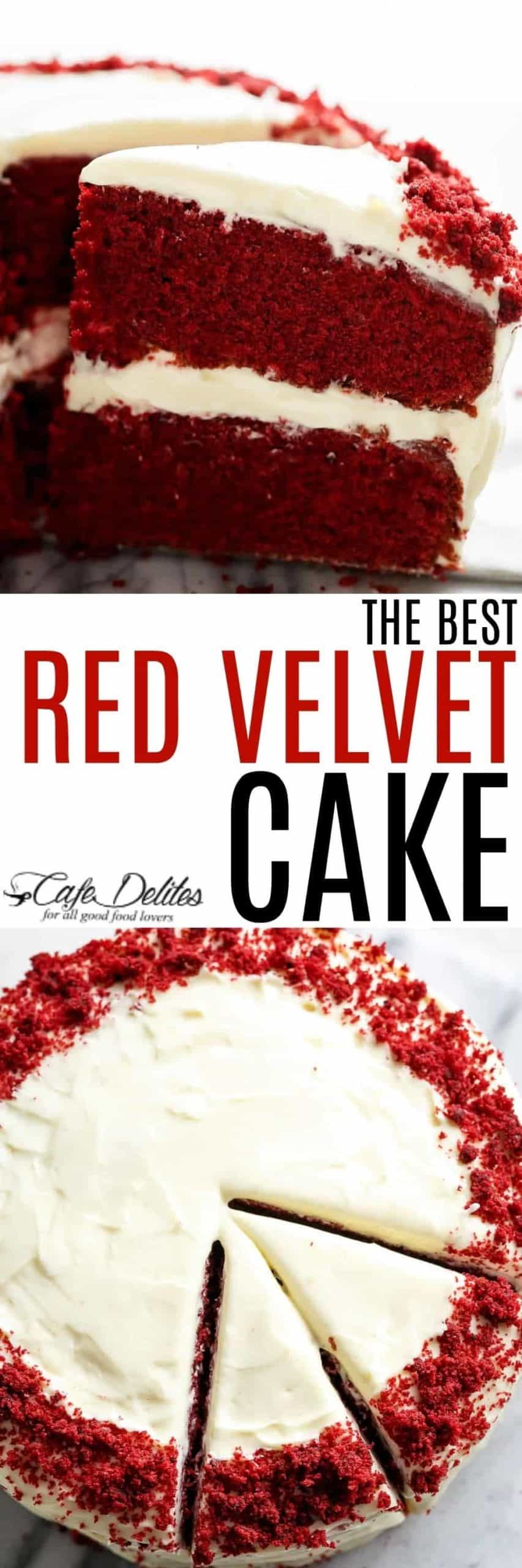 The most incredible Red Velvet Cake Recipe people go crazy for! | cafedelites.com