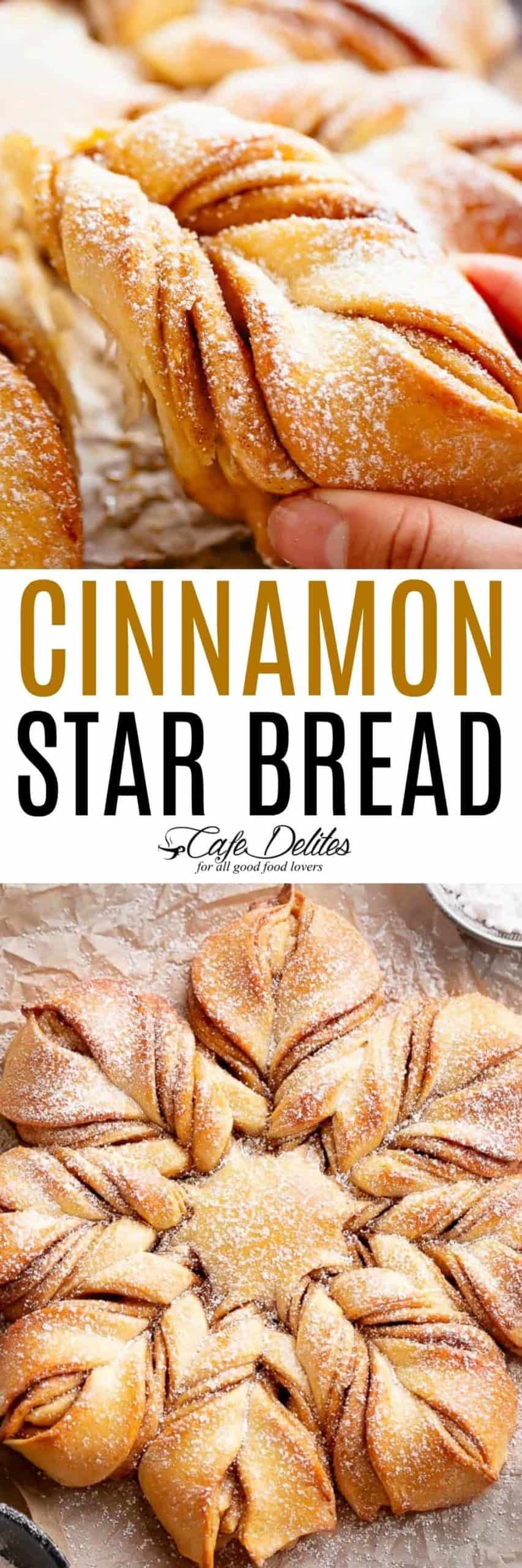 Star Christmas Bread | cafedelites.com