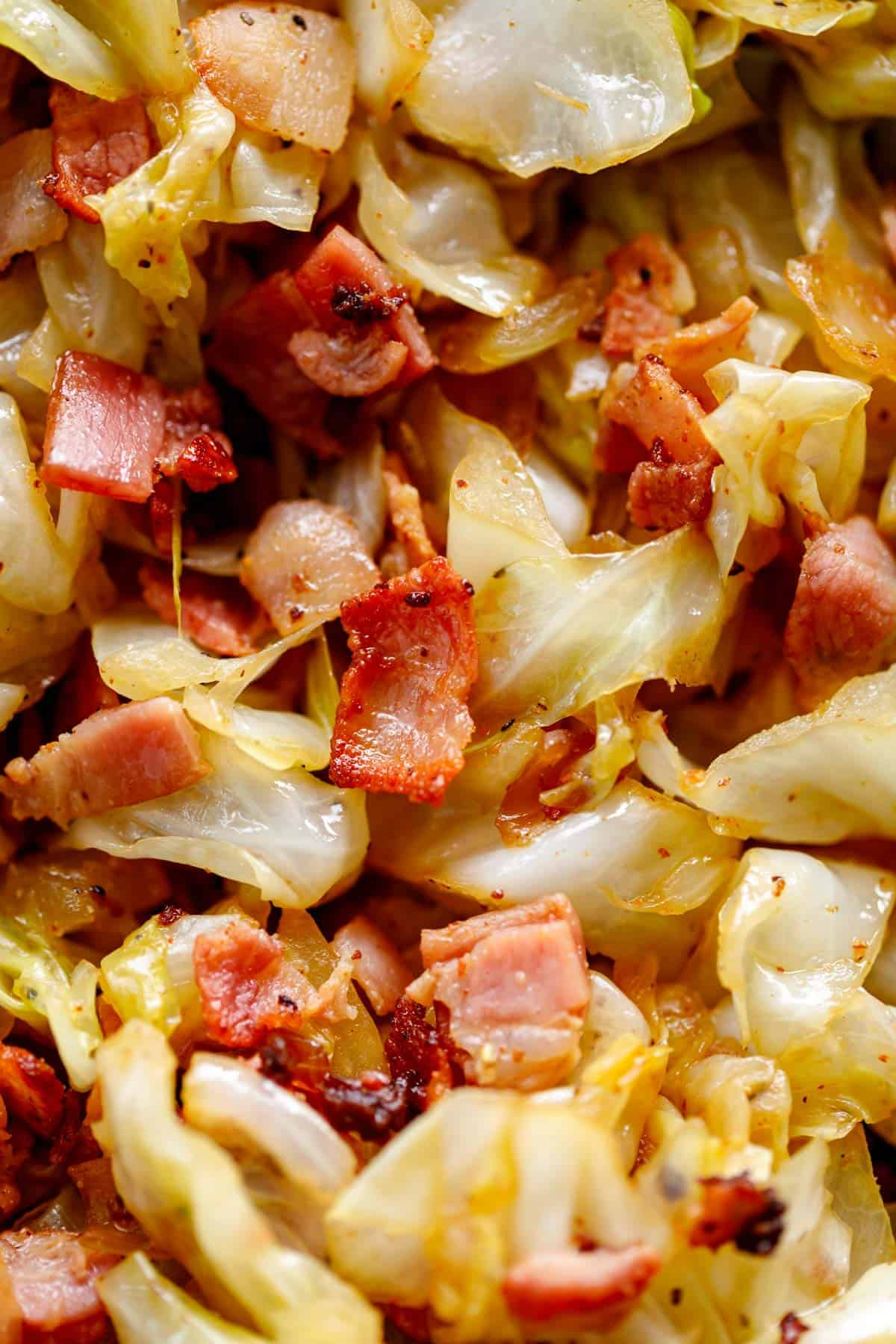Food photo cabbage and bacon | cafedelites.com