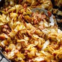 Bacon Fried Cabbage | cafedelites.com